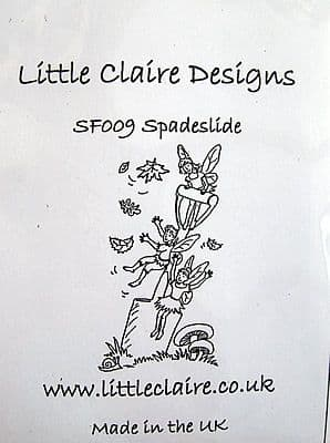 FAIRY STAMP - SPADE SLIDE by LITTLE CLAIRE DESIGNS
