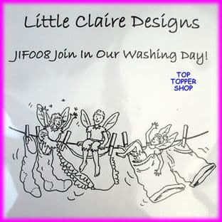 FAIRY STAMP - WASHING DAY by LITTLE CLAIRE DESIGNS