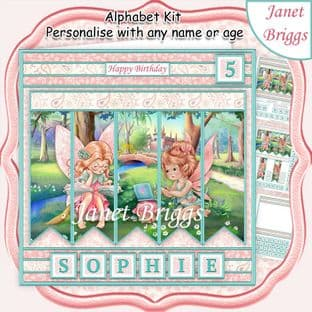 FAIRYLAND 7.5 Alphabet and Age Card Kit digital download