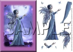 FANTASY FAIRY (blue) DECOUPAGE  digital download