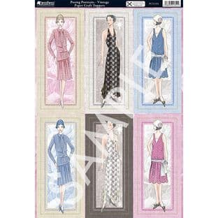 FASHION - POSING PORTRAITS DIE CUT TOPPERS & DECOUPAGE KANBAN 1351