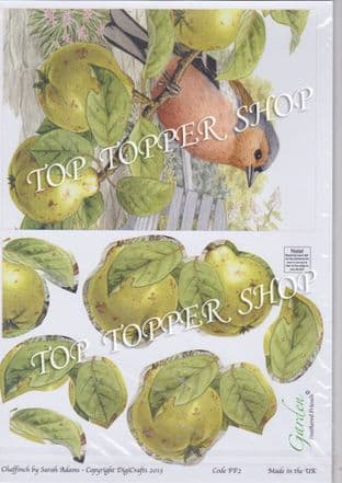 FEATHERED FRIENDS - CHAFFINCH - DIGICRAFTS DECOUPAGE FF2