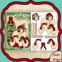 Female Xmas Card Kit Downloads