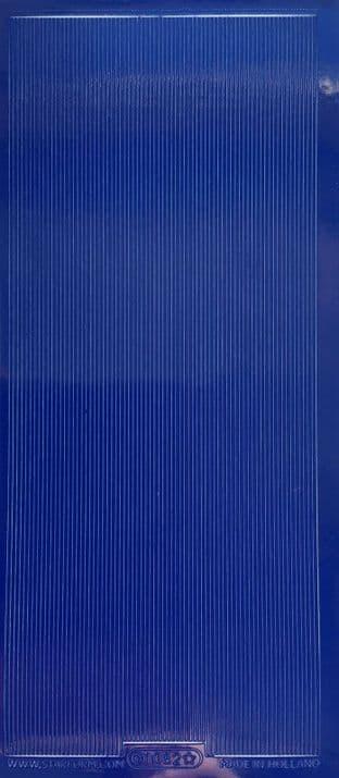Fine Line Borders Dark Blue Starform Peel Off Stickers 1082