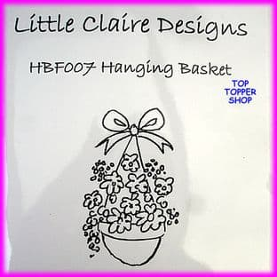 FLORAL STAMP - HANGING BASKET by LITTLE CLAIRE DESIGNS