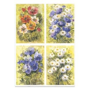 FLORALS 1 Watercolour Paper Toppers P38
