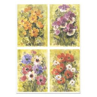 FLORALS 2 Watercolour Paper Toppers P37