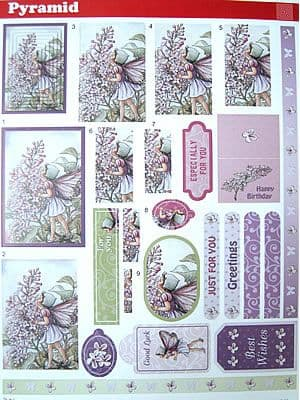 FLOWER FAIRIES 55 DIE CUT PYRAMID DECOUPAGE STUDIO LIGHT