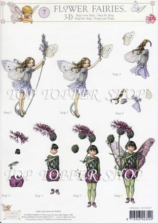 FLOWER FAIRIES 7 DECOUPAGE SHEET