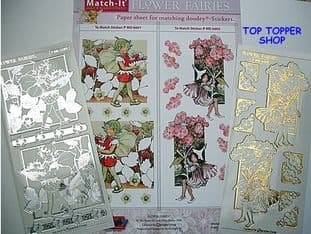 FLOWER FAIRIES PAPER 1 & GOLD MATCH-ITS PEEL OFF STICKERS