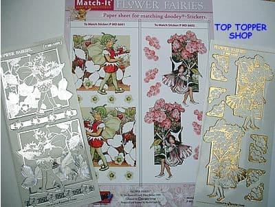 FLOWER FAIRIES PAPER 1 & SILVER MATCH-IT PEEL OFF STICKERS