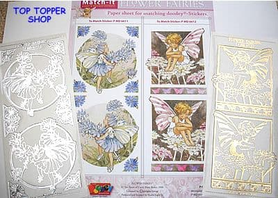 FLOWER FAIRIES PAPER 11 & SILVER MATCH-IT PEEL OFF STICKERS