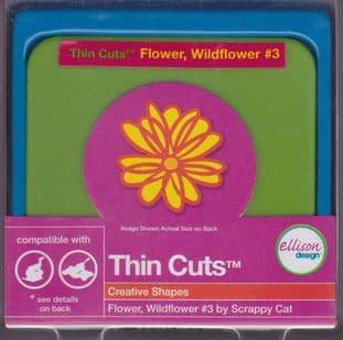 FLOWER WILDFLOWER 3 ELLISON THIN CUTS DIE