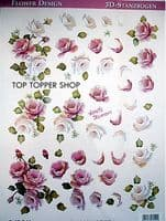 Flowers Die Cut Decoupage
