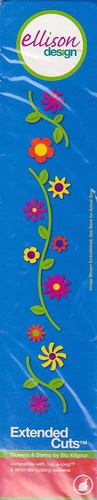 FLOWERS & STEMS CUTTING  DIE ELLISON DESIGN EXTENDED CUTS 22174