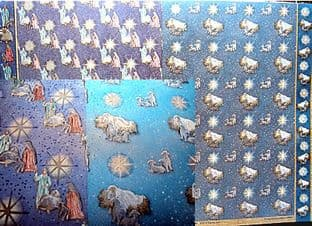 FREESTYLE DUFEX CHRISTMAS BACKING PAPER AWAY IN A MANGER