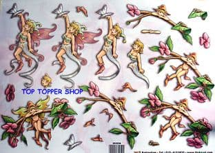 FUN TIME FAIRIES DECOUPAGE SHEET 036