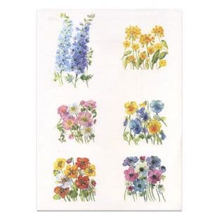 GARDEN FLORALS Watercolour Paper Toppers P39
