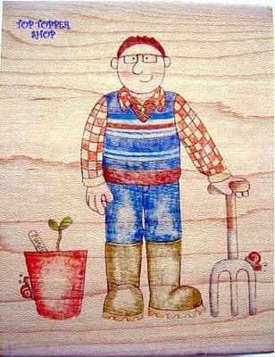 GARDEN MAN PAPERNATION STAMP PN008