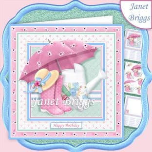 GARDENERS ACCESSORIES 7.5 Decoupage Card Kit digital download