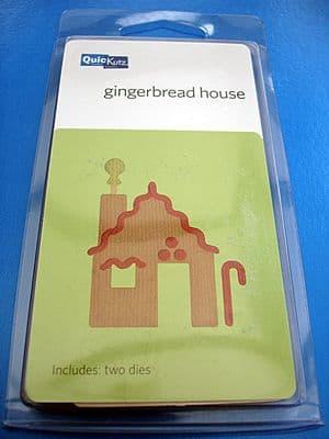 GINGERBREAD HOUSE QUICKUTZ DOUBLEKUTZ DIE LIMITED EDITION