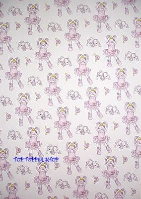 GIRLS BALLET GIRL PAPER NATION A4 BACKING PAPER