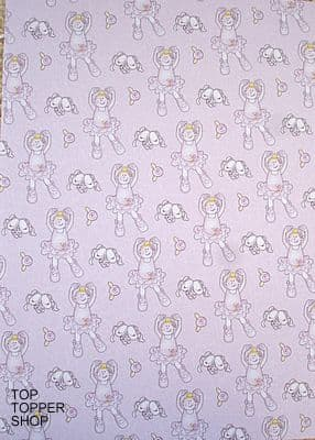 GIRLS - BALLET GIRL PAPER NATION A4 PINK BACKING PAPER