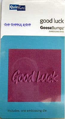 GOOD LUCK QUICKUTZ GOOSEBUMPZ EMBOSSING DIE GB-032