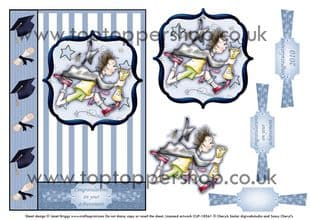 GRADUATION MALE card front and decoupage digital download 511ss