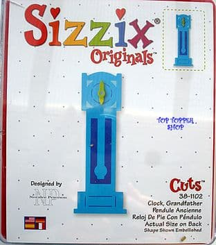 GRANDFATHER CLOCK SIZZIX LARGE RED DIE