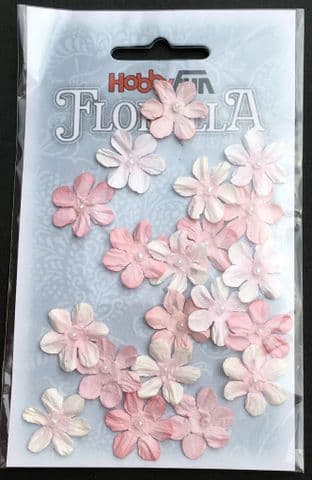 Handmade Mulberry Paper Flowers Soft Pink Hobbyfun Florella 3866031