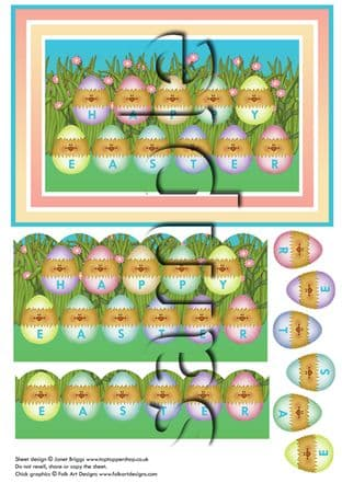 HAPPY EASTER CHICKS & DECOUPAGE  digital download