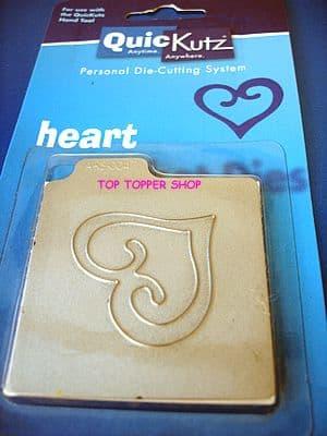 HEART curly outline  QUICKUTZ SINGLEKUTZ RS-0047