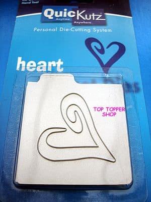 HEART OUTLINE OPEN TOP QUICKUTZ SINGLEKUTZ  DIE RS-0003