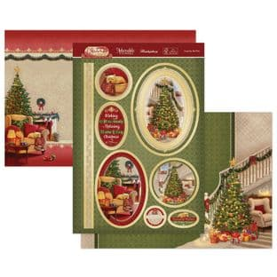 Hunkydory Christmas Classics  Luxury Card Toppers - Cosy By The Fire