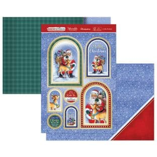 Hunkydory Christmas Santa & Friends Luxury Card Topper Kit - A Jolly Christmas