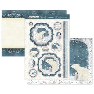 Hunkydory Christmas Santa & Friends Luxury Card Topper Kit - A Winter's Wish