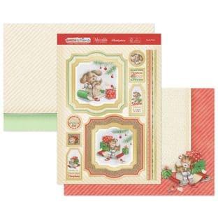 Hunkydory Christmas Santa & Friends Luxury Card Topper Kit - Santa Paws