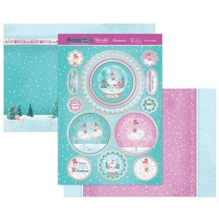 Hunkydory Christmas Sparkle Luxury Card Topper Kit - Christmas Ballet