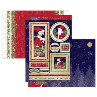 Hunkydory Christmas Sparkle Luxury Card Topper Kit - Father Christmas