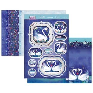 Hunkydory Contemporary Christmas  Luxury Card Toppers - Swan Lake