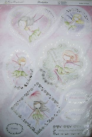 HUNKYDORY  DIE CUT & FOILED TOPPERS  Fairy Daydreams Collection - Make a Wish
