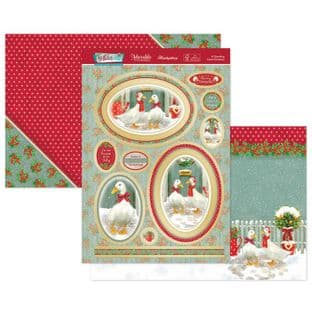 Hunkydory Festive Fun  Luxury Card Toppers - A Quacking Good Christmas