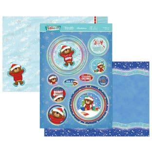 Hunkydory Festive Fun  Luxury Card Toppers - Frosted Fun & Furry