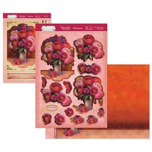 Hunkydory Flourishing Florals Die Cut Decoupage Kit Warmest Wishes