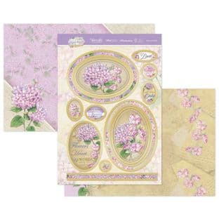 Hunkydory Forever Florals Hydrangea  Luxury Card Topper Kit - One And Only