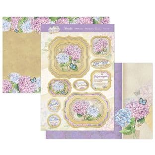 Hunkydory Forever Florals Hydrangea  Luxury Card Topper Kit - Thanks A Bunch