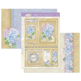 Hunkydory Forever Florals Hydrangea  Luxury Card Topper Kit - Thinking Of You