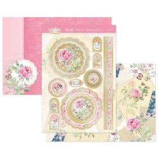 Hunkydory Forever Florals Rose  Luxury Card Topper Kit - Lots of Love