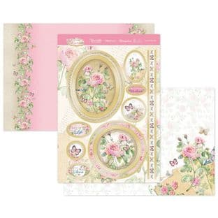 Hunkydory Forever Florals Rose  Luxury Card Topper Kit - Love To Love